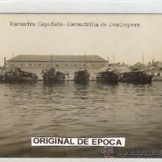 Postales: (PS-17450)POSTAL FOTOGRAFICA DE MARINA DE GUERRA ESPAÑOLA-ESCUADRILLA DE DESTROYERS. Lote 19501779