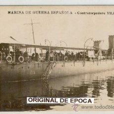 Postales: (PS-17441)POSTAL FOTOGRAFICA DE MARINA DE GUERRA ESPAÑOLA-CONTRATORPEDERO VILLAMIL. Lote 19501917