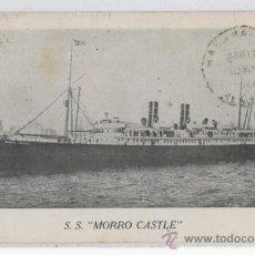 Postales: TARJETA POSTAL DEL BARCO TRANSATLANTICO S.S. MORRO CASTLE PAQUEBOT. Lote 19677195