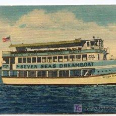 Postales: SEVEN SEAS DREAMBOAT. MIAMI, FLORIDA. Lote 26498112