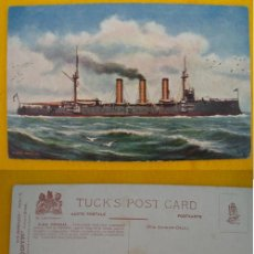 Postales: ANTIGUA POSTAL : HMS DONEGAL. ED TUCK & SONS OILETTE. POSTCARD 9109. OUR IRONCLADS SERIE IV. Lote 21368242
