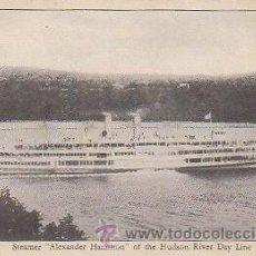 Postales: VAPOR ALEXANDER HAMILTON (LINEA DEL RIO HUDSON - ESTADOS UNIDOS). Lote 21693396