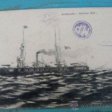 Postales: ANTIGUA POSTAL DEL BARCO ACORAZADO ALFONSO XIII - POSTAL SELLARIM - NO CIRCULADA. Lote 21967739