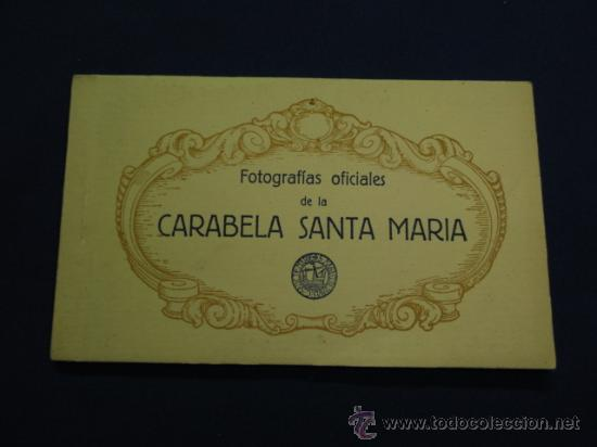 FOTOGRAFIAS OFICIALES DE LA CARABELA SANTA MARIA - BLOCK DE 10 (Postales - Postales Temáticas - Barcos)