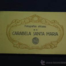 Postales: FOTOGRAFIAS OFICIALES DE LA CARABELA SANTA MARIA - BLOCK DE 10. Lote 22123895