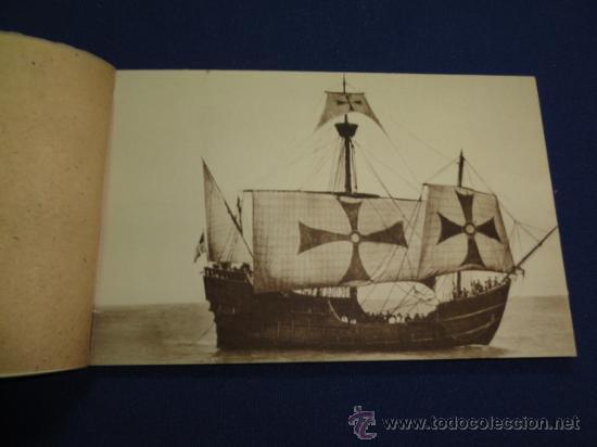 Postales: FOTOGRAFIAS OFICIALES DE LA CARABELA SANTA MARIA - BLOCK DE 10 - Foto 2 - 22123895