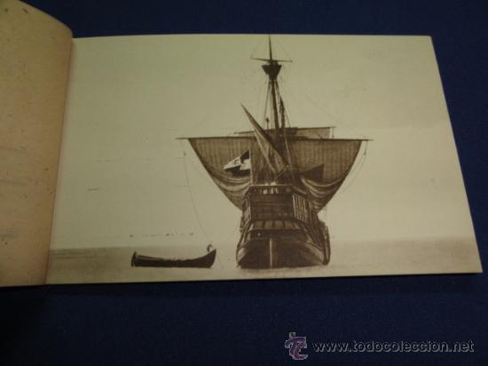 Postales: FOTOGRAFIAS OFICIALES DE LA CARABELA SANTA MARIA - BLOCK DE 10 - Foto 3 - 22123895