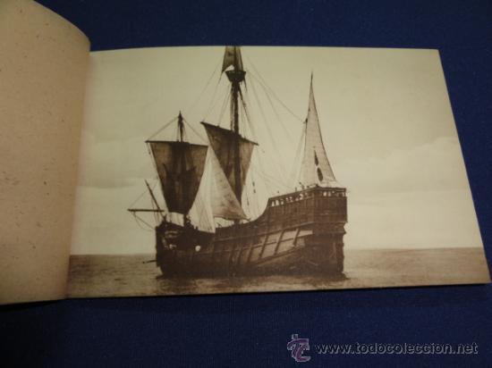 Postales: FOTOGRAFIAS OFICIALES DE LA CARABELA SANTA MARIA - BLOCK DE 10 - Foto 4 - 22123895
