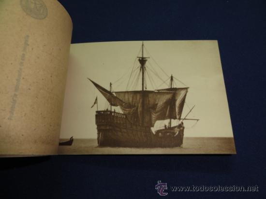 Postales: FOTOGRAFIAS OFICIALES DE LA CARABELA SANTA MARIA - BLOCK DE 10 - Foto 5 - 22123895