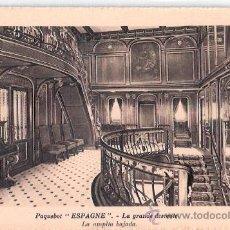 Postales: EDITION SPECIALE DE LA CIE. GLE. TRANSATLANTIQUE. PAQUEBOT ESPAGNE, LA GRANDE DESCENTE.. Lote 23139223