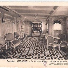 Postales: EDITION SPECIALE DE LA CIE. GLE. TRANSATLANTIQUE. PAQUEBOT ESPAGNE, LE JARDIN D´HIVER.. Lote 23139307