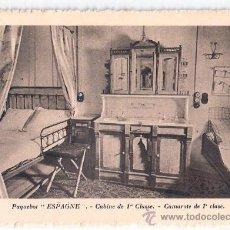 Postales: EDITION SPECIALE DE LA CIE. GLE. TRANSATLANTIQUE. PAQUEBOT ESPAGNE, CABINE DE 1ª CLASSE.. Lote 23139541