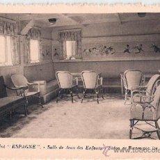 Postales: EDITION SPECIALE DE LA CIE. GLE. TRANSATLANTIQUE. PAQUEBOT ESPAGNE, SALLE DE JEUX DES ENFANTS.. Lote 23139748
