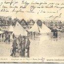 Postales: PS0198 BERCK-PLAGE 'AÉROPLAGES SUR LA PLAGE À MARÉE BASSE'. CIRCULADA EN 1913. Lote 24892205