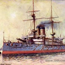 Postales: BARCO DE GUERRA. THE ASAHI. BATTLESHIP OF JAPAN. TUCK´S POST CARD. JAPONES.. Lote 24929352
