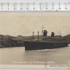 Postales: TARJETA POSTAL DE BARCO CANAL DE PANAMA FOTO FLATAU AMERICA UNITED STATES LINES . Lote 25415716