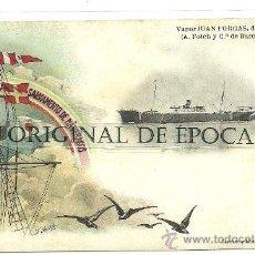 Postales: (PS-22086)POSTAL SOCIEDAD ESPAÑOLA DE SALVAMENTO DE NAUFRAGOS-VAPOR JUAN FORGAS. Lote 26036748