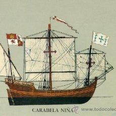 Postales: NAVES DEL DESCUBRIMIENTO TRAVESÍA 1990 CARABELA NIÑA SOCIEDAD ESTATAL QUINTO CENTENARIO . Lote 26221447