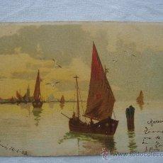 Postales: POSTAL ANTIGUA CON BONITO MOTIVO. ESCRITA AL DORSO Y FECHADA EL 24-IV-1908.. Lote 26466843