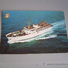 Postales: POSTAL BARCO COMPAÑIA TRANSMEDITERRANEA.. Lote 27027669