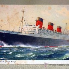 Postales: TARJETA POSTAL, BARCO, CUNARD R.M.S., QUEEN MARY,ENGLAND. Lote 27733654
