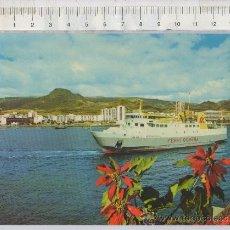 Postales: TARJETA POSTAL DE BARCO FERRY GOMERA BENCHIJIGUA EN TENERIFE LOS CRISTIANOS ISLAS CANARIAS. Lote 27967282