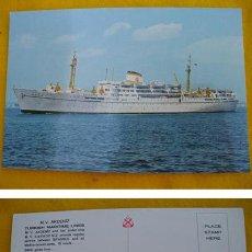 Postales: ANTIGUA POSTAL : M.V.AKDENIZ - TURKISH MARITIME LINES (LÍNEA MARÍTIMA TURCA). Lote 28220039
