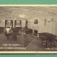 Postales: POSTAL BARCO CABO DE HORNOS.BUENA ESPERANZA. SALÓN DE MÚSICA. YBARRA.SEVILLA. ESCRITA CON SELLO 1945. Lote 28351564