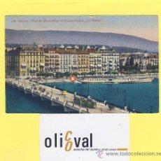 Postales: BARCO-BARCOS- -LA SUISSE-GENÉVE 1923 SELLO Y MATASELLO-PE-0024-. Lote 28371972