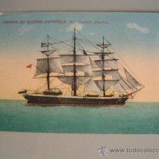 Postales: INTERESANTE POSTAL BARCO.- MARINA DE GUERRA ESPAÑOLA CORBETA NAUTILUS. Lote 28485448