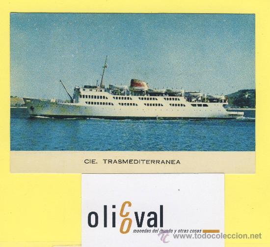 BARCO-BARCOS - CIE TRASMEDITERRANEA-CIUDAD DE TARIFA-CORREO ALGECIRAS -TANGER -90 X 138 MM-P-1064 (Postales - Postales Temáticas - Barcos)
