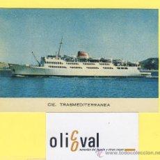 Postales: BARCO-BARCOS - CIE TRASMEDITERRANEA-CIUDAD DE TARIFA-CORREO ALGECIRAS -TANGER -90 X 138 MM-P-1064. Lote 28812290