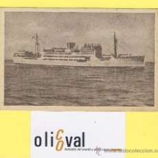 Postales: BARCO-BARCOS - CIE TRASMEDITERRANEA- DOMINE - AÑOS 40 -135 X 91 MM POSTAL-P-1028. Lote 28812396