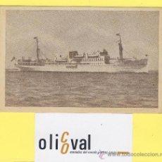 Postales: BARCO-BARCOS - CIE TRASMEDITERRANEA- CIUDAD DE PALMA - AÑOS 40 -135 X 91 MM POSTAL-P-1031. Lote 28812439
