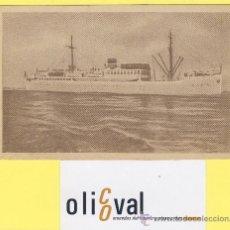 Postales: BARCO-BARCOS - CIE TRASMEDITERRANEA- CIUDAD DE VALENCIA - AÑOS 40 -135 X 91 MM POSTAL-P-1032. Lote 28812458