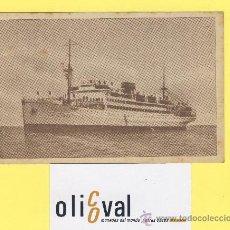 Postales: BARCO-BARCOS - CIE TRASMEDITERRANEA- VILLA DE MADRID - AÑOS 40 -135 X 91 MM POSTAL-P-1033. Lote 28812470