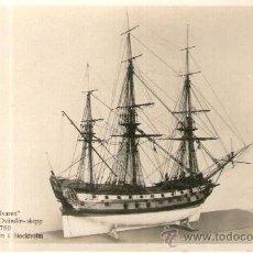 Postales: POSTAL DE UN BARCO - WELVAREN HOLLANDSKT OSTINDIE - SKEPP 1780MARINMUSEUM I STOCKHOLM. Lote 28895737