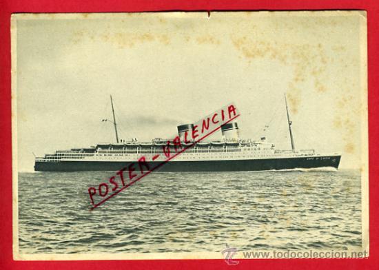 POSTAL, BARCO ITALIA, CONTE DI SAVOIA, P66412 (Postales - Postales Temáticas - Barcos)