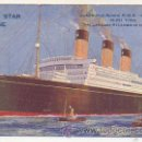 Postales: WHITE STAR LINE. 'MAJESTIC' THE LARGEST STEAMER IN THE WORLD. . Lote 30194624