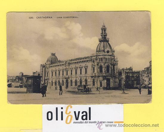 BARCO.BARCOS PUERTOS- CARTAGENA -CASA CONSISTORIAL-SOBRE 1910-P 829 (Postales - Postales Temáticas - Barcos)