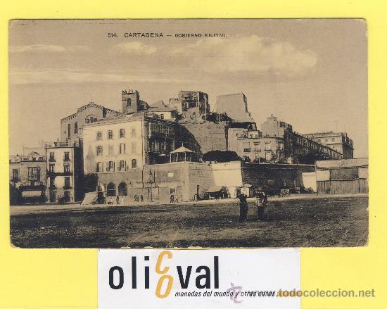 BARCO.BARCOS PUERTOS- CARTAGENA-514 - GOBIERNO MILITAR -SOBRE 1910-P 828 (Postales - Postales Temáticas - Barcos)