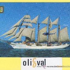 Postales: BARCO.BARCOS PUERTOS-ARMADA ESPAÑOLA -BUQUE ESCUELA-JUAN SEBASTIAN DE ELCANO-P-1046-. Lote 30370694