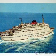 Postales: POSTAL BARCO ITALIANO DFDS SEAWAYS DANA CORONA GENOVA ALICANTE MÁLAGA TUNIS SIN CIRCULAR. Lote 30733905
