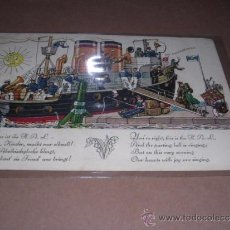 Postales: NAVIERAS HAPAG -HAMBURG- AMERIKA LINIE GLOCKENABEND NIGHT OF THE CHIMES AN BORD DER . Lote 31146785