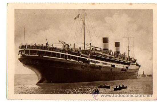 AUGUSTUS. EXPOSICION INTERNACIONAL DE BARCELONA 1929 (Postales - Postales Temáticas - Barcos)