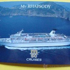 Postales: POSTAL DE BARCOS. MV RHAPSODY MSC CRUISES. BARCO CRUCERO. 977 . Lote 31715862
