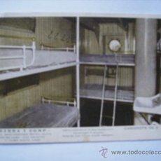 Postales: BUQUE CABO SAN AGUSTIN Y SANTO TOME.LINEA BRASIL-PLATA.YBARRA Y COM.ª.CAMAROT 3ª CLASE.CONTIENE MENU. Lote 31790781