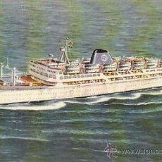 Postales: EL M/N IRPINIA DE LA COMPAÑIA GRIMALDI, ESCRITA EN 1968. Lote 31972977