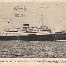 Postales: EL SATURNIA DE LA CÓSULICH-LINE, POSTAL DE LA PROPIA COMPAÑIA CIRCULADA EN 1933. Lote 31973039