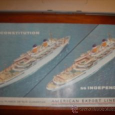 Postales: SS CONSTITUTION,...AMERICAN EXPORT LINES. Lote 32004343